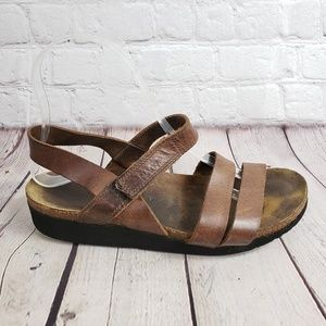 Naot Kayla Leather Strappy Sandals Womens 7 Shoes